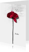 Condoleancekaart Klaproos Sterkte