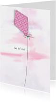 Condoleancekaart lief kind roze