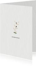 Condoleancekaart met olijftakje in kraftpapier