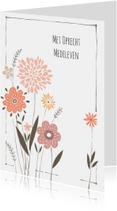 Condoleancekaart moderne mloem