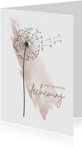 Condoleancekaart - Paardenbloem met watercolor
