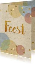 confetti uitnodiging feest