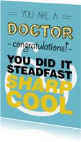 Congrats met je promotie DOCTOR! you DID it - COOL