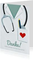 Dankeschön-Karte für Krankenhaus
