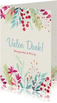 Dankeskarte Hochzeitsjubiläum Blumendekor