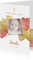Dankeskarte zur Taufe Foto metallic rosé