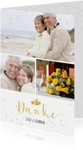 Danksagung Hochzeitsjubiläum 3 Fotos