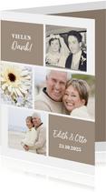Danksagung Hochzeitsjubiläum Fotocollage