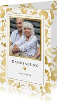 Danksagung Hochzeitstag Foto & Goldblätter