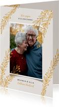 Danksagungskarte Goldene Hochzeit Foto & Zweige