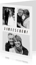 Danksagungskarte Hochzeitsjubiläum Fotos