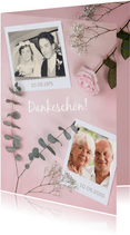 Danksagungskarte Hochzeitstag Fotos & Rose