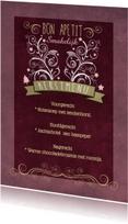 Decoratief Roze Kerstdiner - BK