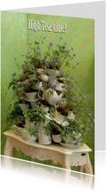 deftige High Tea Time - bloemenservies