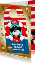 Deurhanger piraat uitnodiging