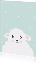Dierenkaart geïllustreerd schaap