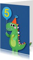 Dino leeftijd verjaardagkaart