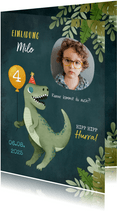 Dinosaurier Einladungskarte mit eigenem Foto
