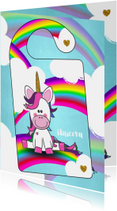 DIY deurhanger met unicorn en je eigen naam