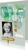 Drive By uitnodiging verjaardag kind jongen