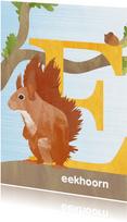 E van eekhoorn letterkaart