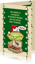 Een beterschapskaart voor rond de feestdagen, opkikkertje