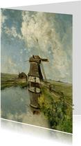 Een molen aan een poldervaart