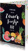 Een tropische uitnodiging voor een BBQ of tuinfeestje