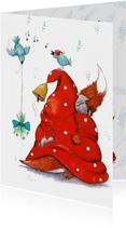Een vrolijke kerst met vos