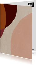 Een zomaar kaartje met hip vlekken patroon