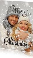 Eigen foto Merry Christmas Happy New Year zwart