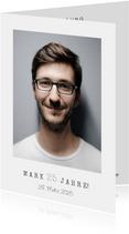 Einfache Fotokarte Einladung 25. Geburtstag