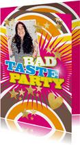 Einladung Bad Taste Party mit Foto