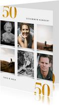 Einladung Doppelgeburtstag 50 Jahre mit Fotocollage