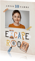 Einladung Escape Room Kindergeburtstag