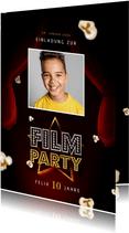 Einladung Filmparty Kindergeburtstag mit Foto