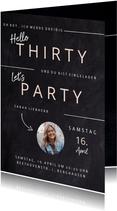 Einladung Geburtstag 'Hello Thirty' mit kleinem Foto