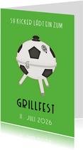 Einladung Grillfest Fußball