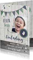 Einladung Kindergeburtstag Blue & Green