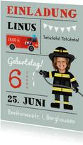 Einladung Kindergeburtstag Feuerwehrmann