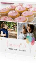 Einladung Kindergeburtstag mit Fotos und Herzen