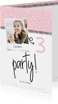 Einladung Kindergeburtstag 'Party!' eigenes Foto