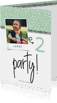 Einladung Kindergeburtstag 'Party!' mit eigenem Foto