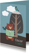 Einladung Kindergeburtstag Winterbär