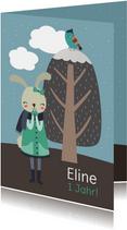 Einladung Kindergeburtstag Winterhase