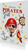 Einladung Piraten-Kindergeburtstag Junge