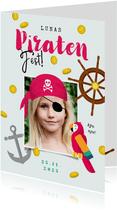 Einladung Piraten-Kindergeburtstag Mädchen