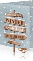 Einladung Winter-Kindergeburtstag Schlitten