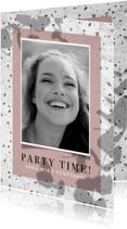 Einladung zum 15. Geburtstag im Terrazzo Look