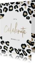 Einladung zum 21. Geburtstag Leopardenmuster